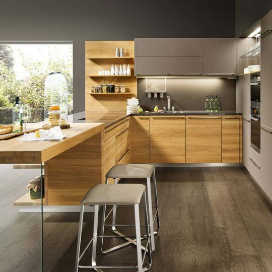 CUCINA TEAM7 LINEE IN ROVERE SBIANCATO